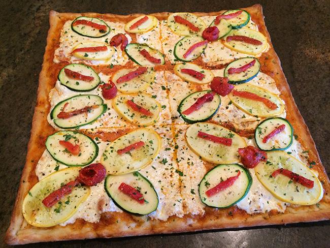 Grilles Zucchini & Squash Pizza