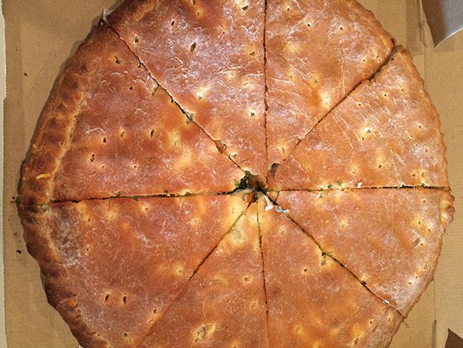Stuffed Meat Lowers Pizza