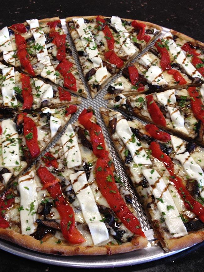 Grilled Portobello Pizza